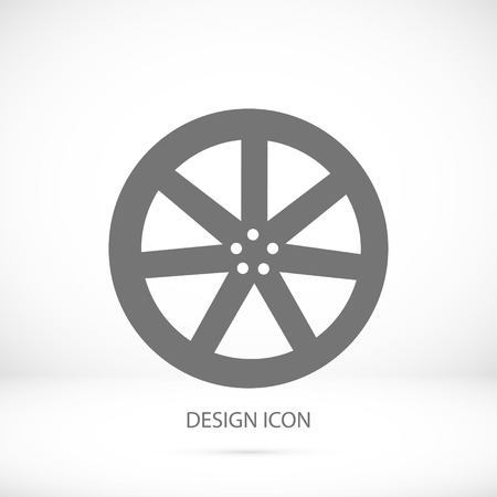 wheel disks icons, vector best flat icon, Illustration