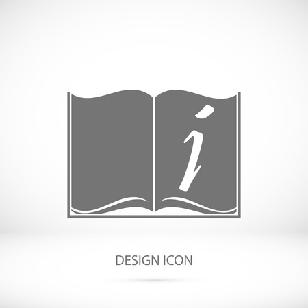 best book: open book icon, vector best flat icon,