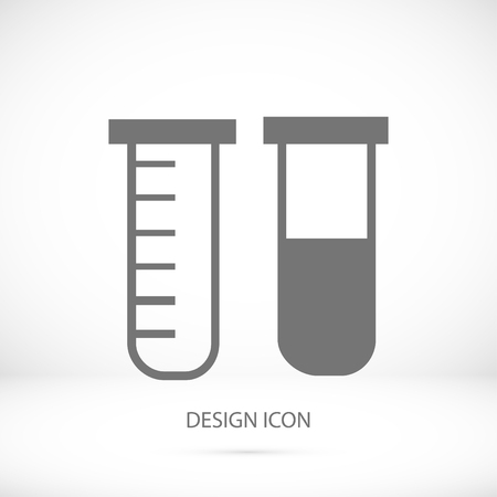 a substance vial: tubes icon, vector best flat icon, Illustration