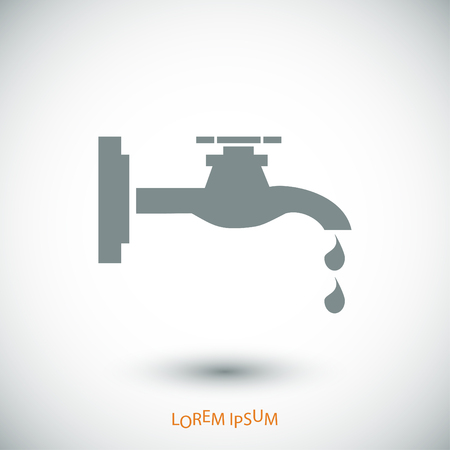 leakage: Faucet icon, vector best flat icon