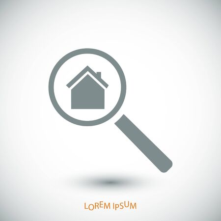 housing search: search house, icon, vector best flat icon, Illustration
