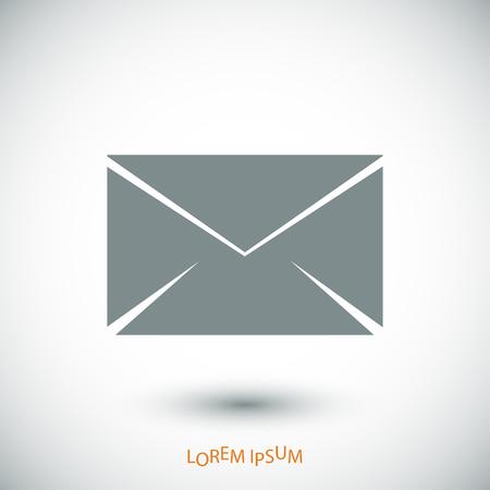 envelope icon: black envelope icon, vector best flat icon