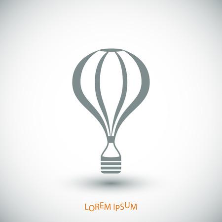 ballooning: The air balloon icon, vector best flat icon Illustration
