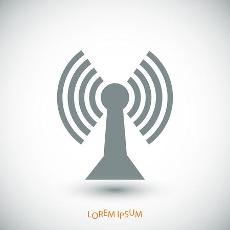 tv tower: communication icon, vector best flat icon Illustration