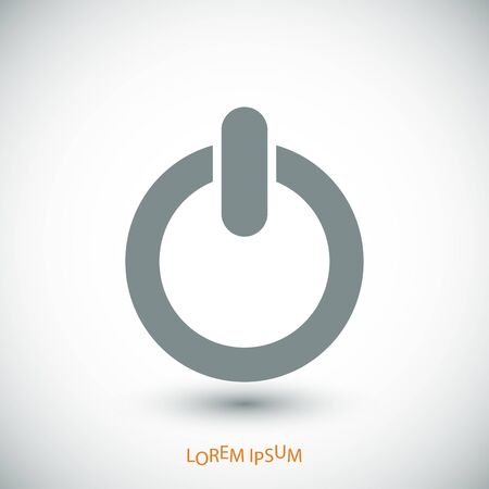 shutdown: power icon, vector best flat icon