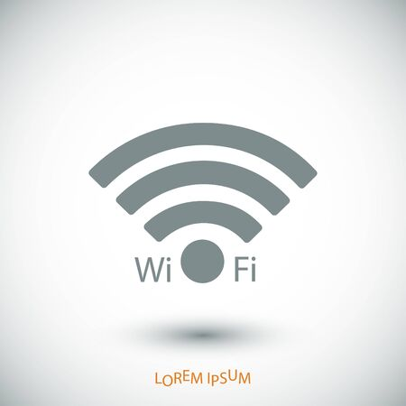 hot wife: WiFi icon, vector best flat icon Illustration