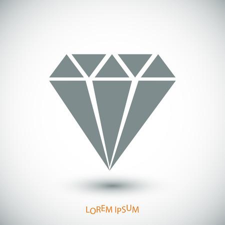 Diamond vector icon, vector best flat icon Illustration