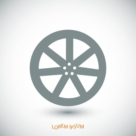 alloy wheel: wheel disks icons, vector best flat icon