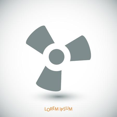 black fan: black fan and propeller icon, vector best flat icon Illustration