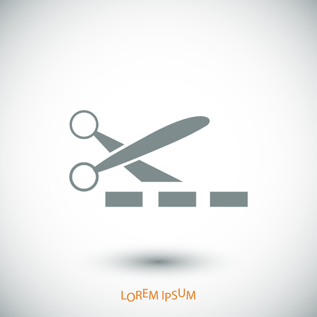 scissors cutting paper: scissors icon, vector best flat icon Illustration