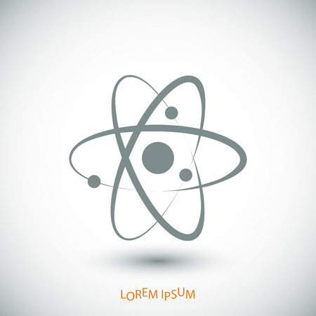 nuclear fission: Atom sign icon, vector best flat icon