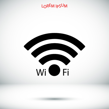 wi: Wi-Fi icon, vector best flat icon,