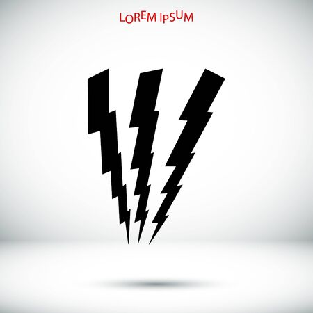 lightning speed: lightning icon, vector best flat icon,