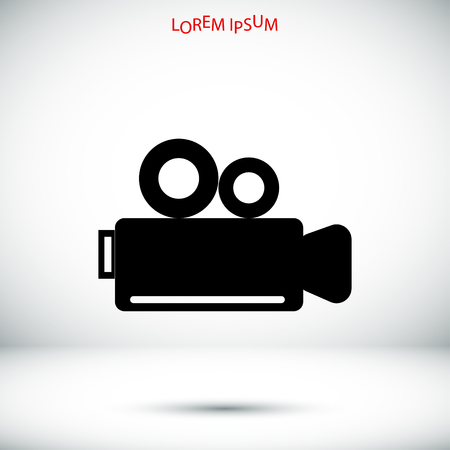 news flash: video camera icon, vector best flat icon,