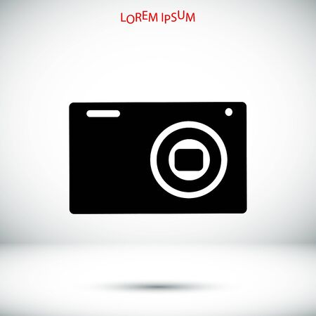 Camera 3d photo icon, vector best flat icon,
