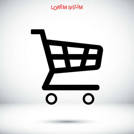 shopping chart icon, vector best flat icon,