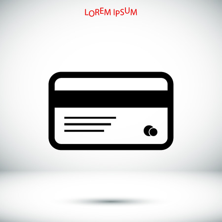 transact: card icon, vector best flat icon Illustration