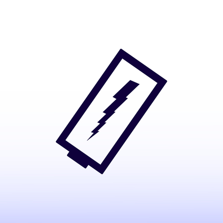 amperage: discharged battery icon Illustration