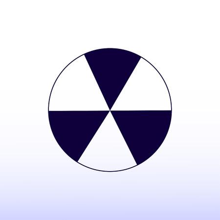 radioactive sign sprayed on metal barrel icon Illustration