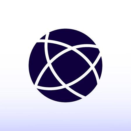 Global technology vector icon Illustration