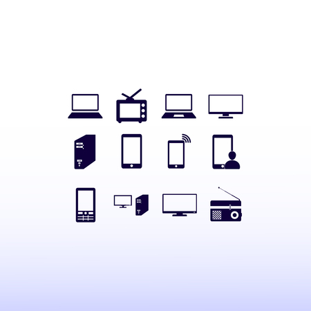 communications tower: Communication device icons