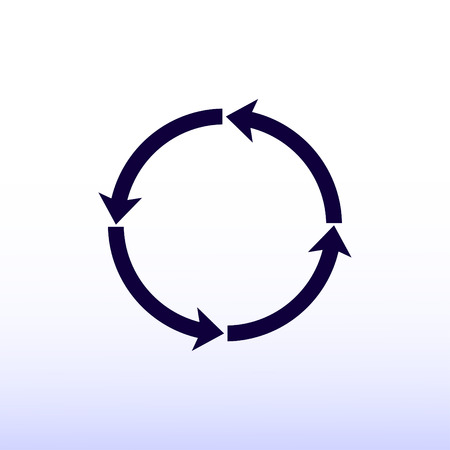 circular arrows: circular arrows vector icon
