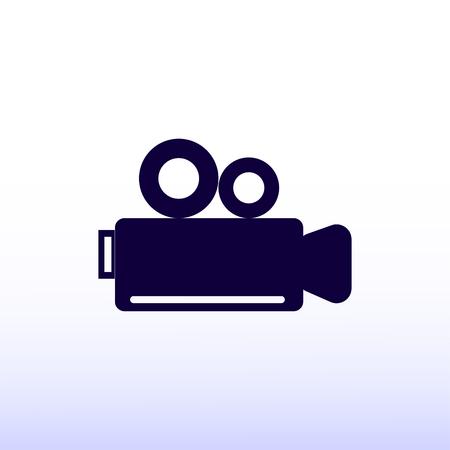 news flash: video camera icon Illustration
