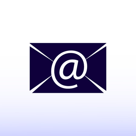 unread: Email message flat icon