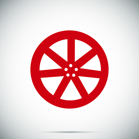 aluminum wheels: wheel disks icons, vector best flat icon