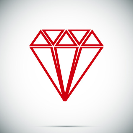 Diamond icon, vector best flat icon