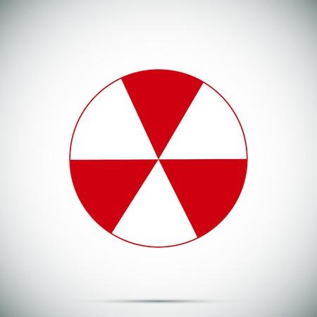radioactive sign sprayed on metal barrel icon, vector best flat icon Illustration