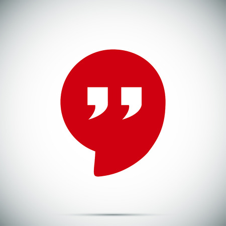 Quote icon, vector best flat icon Vectores