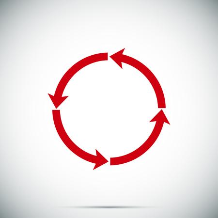 icon series: circular arrows vector icon, vector best flat icon