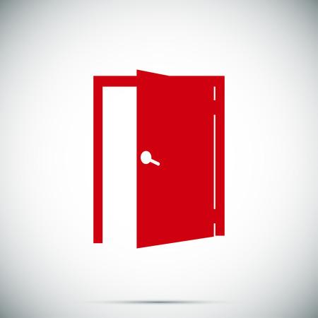 doorknob: door icon, vector best flat icon Illustration