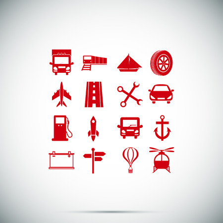 Transport icons, vector best flat icon Illustration