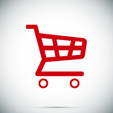 shopping cart icon, vector best flat icon