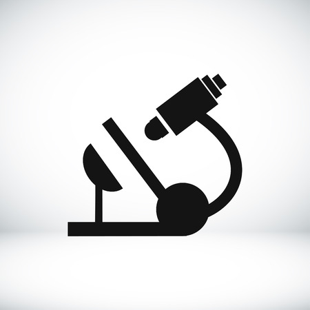 organisms: microscope icon, vector best flat icon