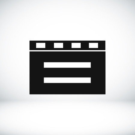 film title: cinema clapper icon, vector best flat icon Illustration