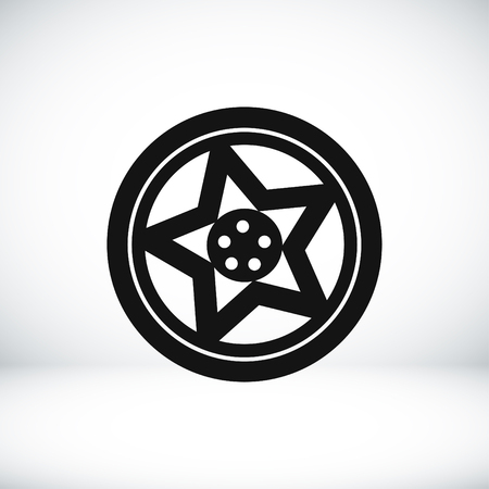 aluminum wheels: wheel disks icon, vector best flat icon Illustration