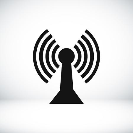 telegraph: communication icon, vector best flat icon Illustration