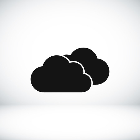 cloud icon: weather vector icon, vector best flat icon Illustration