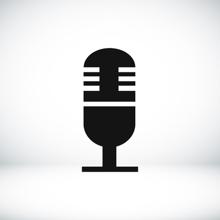 condenser: microphone icon, vector best flat icon Illustration