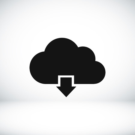 shiny icon: cloud vector icon vector best flat icon Illustration