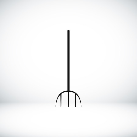 horticultural: Garden fork icon, vector best flat icon