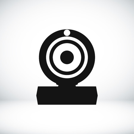 journalistic: web cam icon, vector best flat icon
