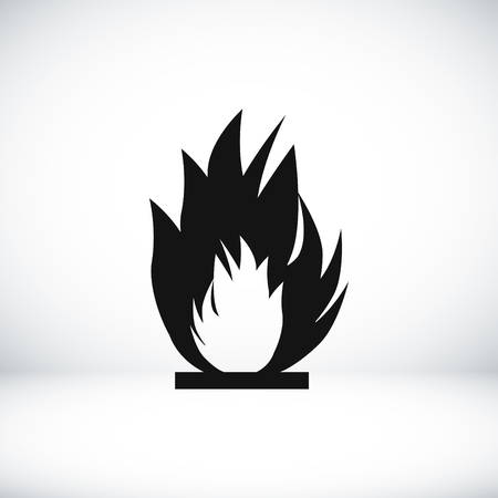 flammable warning: fire icon, vector best flat icon