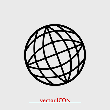 fly around: globe vector icon, vector best flat icon Illustration