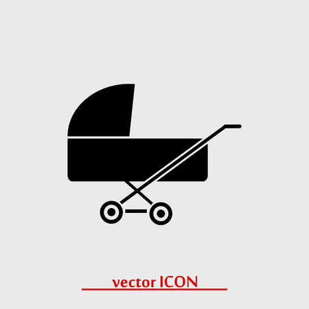 babysitter: pram icon, vector best flat icon Illustration