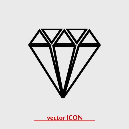 Diamond icon, vector best flat icon