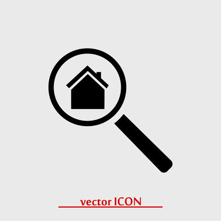housing search: search house, icon, vector best flat icon